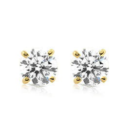 1/5ct Diamond Studs 14K Yellow Gold (J-K, I2-I3)