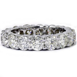 5ct Prong Diamond Eternity Ring 14K White Gold (H/I, I1)