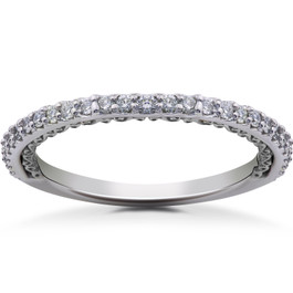 1/4 ct Lab Created Diamond Wedding Ring 14k Gold or Platinum (((G-H)), SI(1)-SI(2))