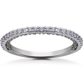 1/4 ct Lab Created Diamond Wedding Ring 14k Gold or Platinum (((G-H)), SI(1)-SI(2))