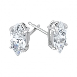 1/2ct Diamond Studs 14K White Gold (G/H, SI)