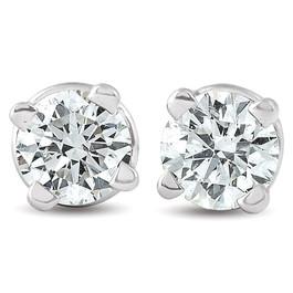 1/4ct Diamond Studs 14K White Gold (J-K, I3)