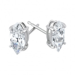 1/4ct Diamond Studs 14K White Gold (G/H, I1)