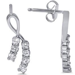 1/2ct Diamond Earrings 14K White Gold (H, I2)