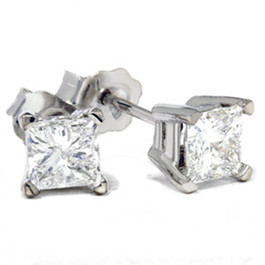 1ct Diamond Studs 14K White Gold (G/H, SI3)