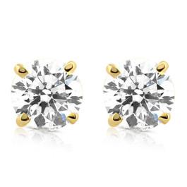 1 1/4ct Diamond Studs 14K Yellow Gold (G/H, I2-I3)