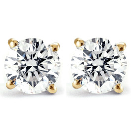 1/4ct Diamond Studs 14K Yellow Gold (J-K, I2)