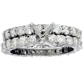 4ct Diamond Eternity Engagement Wedding Ring Setting (G/H, I1)