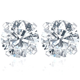 1 1/10Ct Diamond Studs 14K White Gold (H-I, I1-I2)