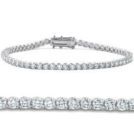 """4 Ct Diamond 7"""" Tennis Bracelet 18k White Gold Lab Grown Eco Friendly (H, VS)"""