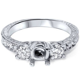 Semi Mount Diamond Engagement Ring Setting 14K Mount (G/H, SI)