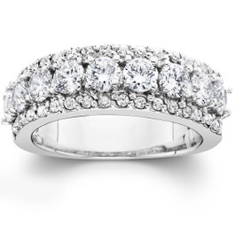 VS 1 3/4ct Diamond Wedding Ring 14K White Gold (G, VS)