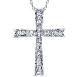 1/4ct Diamond Cross 14K White Gold (G/H, I2)