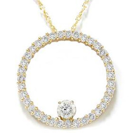 1 1/2ct Circle Of Life Diamond Pendant 14K Yellow Gold (G/H, I1-I2)
