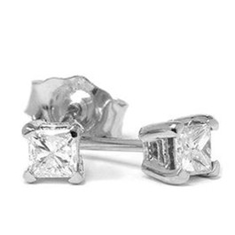 1/5ct Diamond Studs 14K White Gold (G/H, SI)