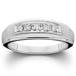 1/6ct Diamond Ring 14K White Gold (H/I, I2)