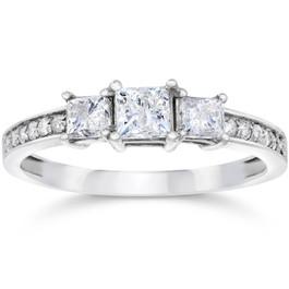 Princess Cut Diamond Three Stone Engagement