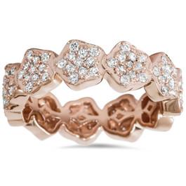 1 1/2ct Diamond Eternity Ring 14K Rose Gold (I-J, I1-I2)