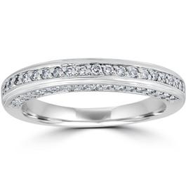 5/8ct Diamond Wedding Ring White Gold Anniversary Ring (G/H, I2)