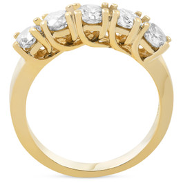 1 1/2ct Real Diamond Wedding Anniversary 14K Gold Ring (G/H, I1)