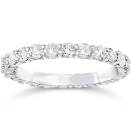 1 3/4ct Diamond Eternity Ring 14K White Gold (F, SI(1)-SI(2))