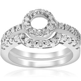 1/2ct White Gold Diamond Engagement 14K Ring Setting (G/H, I2)