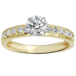 1ct Yellow Gold Diamond Engagement Ring 14K (H/I, I1)
