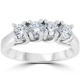 1ct Diamond White Gold Curve Wedding Ring Enhancer (G, I1)