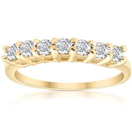 5/8ct 14K Yellow Gold Diamond Anniversary Wedding Ring (G/H, I1)