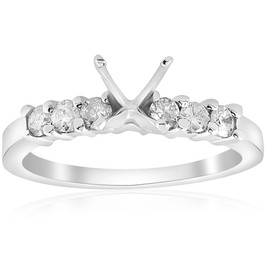 1/2ct Diamond Engagement Semi Mounting Ring Setting 14K (G/H, I1)