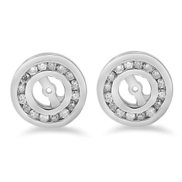 1/2 cttw Diamond Earring Jackets 14K White Gold (up to 4mm) (G/H, I1)