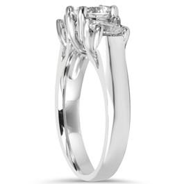 39791572aac 2 CT Three Stone Round Diamond Engagement Ring 14K White Gold ((G-H)