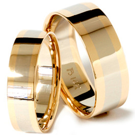 3dc268d0273778 Two-Tone Men's & Women's Wedding Bands | Shipped Free | Pompeii3