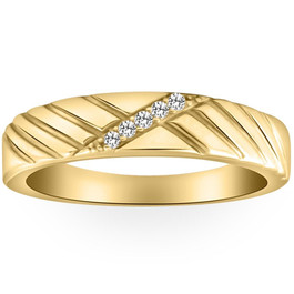 Mens Diamond Wedding Ring Yellow Gold (H/I, I2-I3)
