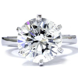 3 Carat Round Cut Enhanced Diamond Engagement Wedding Solitaire 14K White Gold (G/H, SI1-SI2)