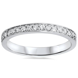 1/3ct Stackable Diamond Wedding Ring 14K White Gold (G/H, I1-I2)