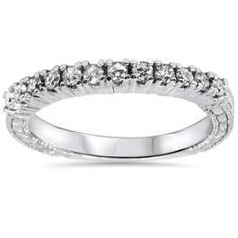1/3ct Vintage Diamond Ring 14K White Gold (G/H, I1-I2)