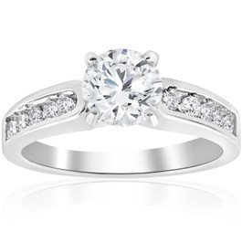 2 ct Diamond Engagement Ring 14K White Gold Channel Set (G/H, SI1-SI2)