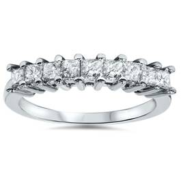 1/2ct Princess Cut Diamond Wedding 14K White Gold Ring (H, I2-I3)
