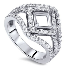3/4ct Fancy Princess Cut Diamond Engagement Setting (G/H, SI3/I1)