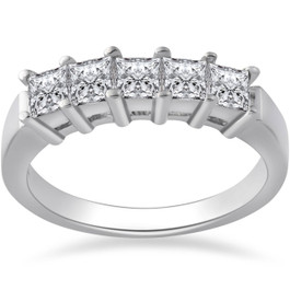 1ct Five Stone Diamond Ring 950 Platinum (G/H, SI)