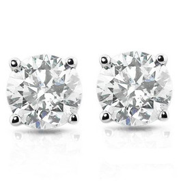 1ct Diamond Studs Platinum ((G-H), SI(1)-SI(2))