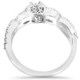 Diamond Cushion Halo Engagement Wedding Ring 1