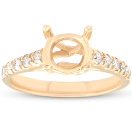 Diamond Semi Mount Engagement Setting Mounting 14K Ring (G/H, I1)