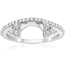 1/2ct Diamond Engagement Guard Ring 14K White Gold (H/I, I1-I2)