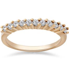 1/2ct Diamond Wedding Ring 14K Yellow Gold Anniversary (G/H, I1)