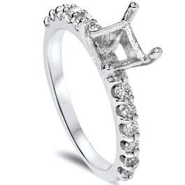 1/2ct Half Eternity Diamond Ring Setting 14K White Gold (G/H, SI)