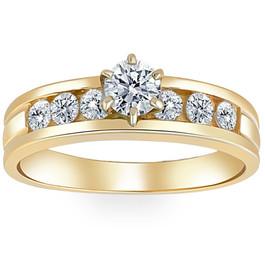 3/4ct Diamond Engagement Ring 14K Yellow Gold (H/I, I1-I2)