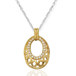 1/3ct Vintage Diamond Pendant 14K Yellow Gold (G/H, I2)