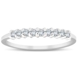 1/4CT Diamond Wedding Ring 14K White Gold (H/I, I2-I3)